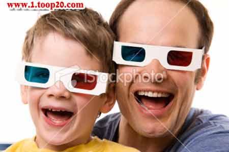 بسته سه تایی عینک سه بعدی آبی قرمز