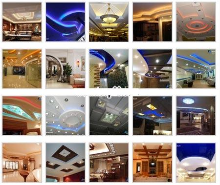 بهترین عکس ها و طرح های سقف کاذب، کناف و نورپردازی مکانهای مختلف - 3DVD