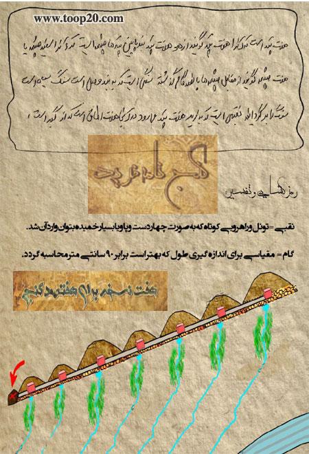تجربیات و ریزه کاریهای باستانشناسی، گنج نامه، گنجنامه و اسرار نسخه ها