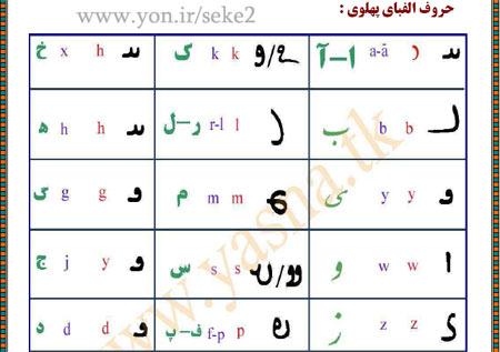 کتاب آموزش خط پهلوی - به همراه متن پهلوی شگفتی های سیستان