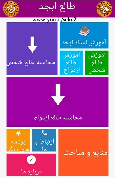 اپلیکیشن فال و طالع بینی ازدواج، فال و طالع بینی شخص با حروف ابجد و آموزش آنها