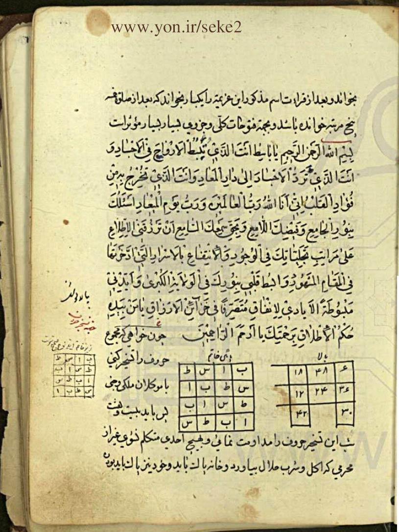 کتاب نجم الدین بحرینی - تسخیرات و طلسمات (نسخه کامل)